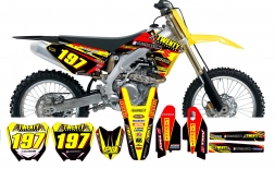 Suzuki Graphics-20 Suspension 2014 Red/Yellow