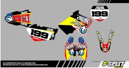 Suzuki NITRO CIRCUS Splitdesigns Bike Graphics