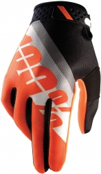 100% HANDSCHUHE RIDEFIT SLANT ORANGE