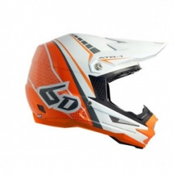 6D HELMET ATR-1 EDGE NEON ORANGE/WHITE