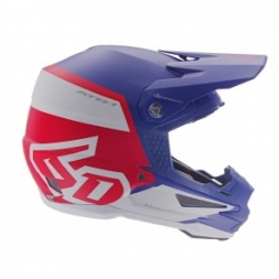 6D HELMET ATR-1 FLIGHT RED WHITE BLUE