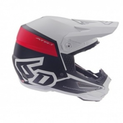 6D HELMET ATR-1 FLIGHT WHITE RED