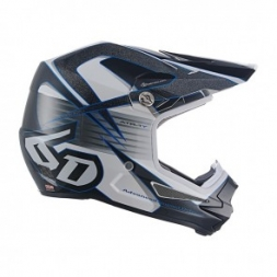 6D HELMET ATR-1Y AVENGER WHITE/BLUE YOUTH