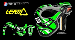 Neckbrace Sticker Kit- Rattle